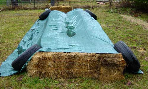 Straw Bale Bed