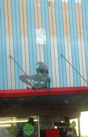Alien on Building