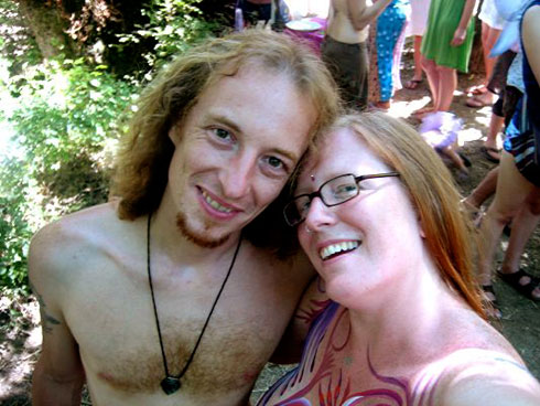 Peter and Teri at the Oregon Country Fair