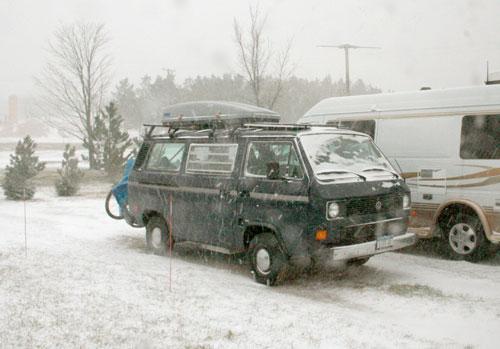 Beginning of the December 1st 2006 snowstorm