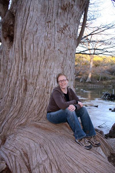 Teri at Guadalupe River, Texas